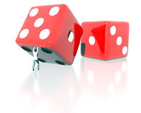Rolling big dice Royalty Free Stock Image