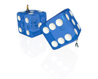 Rolling giant dice Royalty Free Stock Photography
