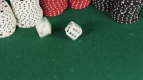 Rolling the dice stock footage