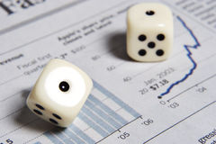 Rolling the dice with your future Stock Photography