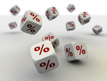 Rolling dices Stock Image