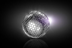 Rolling disco ball - cgi Royalty Free Stock Photos