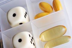 Rolling dobbelt met uw gezondheid royalty-vrije stock foto's