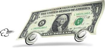 Rolling dollar vector illustratie