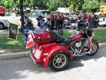Rolling Dondermotorfiets van Canada Stock Foto's