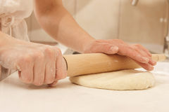 Rolling dough Stock Image