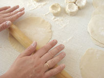 Rolling dough Stock Photos