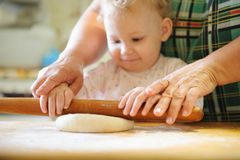 Rolling dough Royalty Free Stock Image