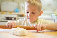 Rolling dough Royalty Free Stock Photo
