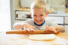 Rolling dough Stock Images