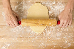 Rolling the Dough Royalty Free Stock Images