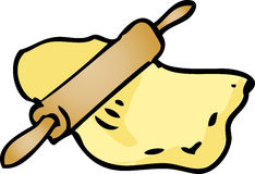 Rolling dough illustration Royalty Free Stock Images
