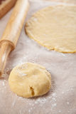Rolling dough for pie Stock Photography