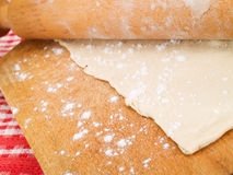 Rolling Dough Royalty Free Stock Images