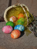 The rolling easter eggs Royalty Free Stock Photo