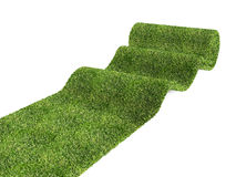 Rolling eco green carpet Stock Photography