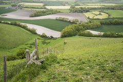 Rolling English countryside landscape in Spring Stock Image