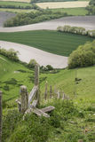 Rolling English countryside landscape in Spring Royalty Free Stock Photo