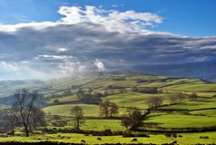 Rolling English Countryside near Staveley Royalty Free Stock Image