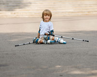 Rolling and falling. portrait boy Stock Photography