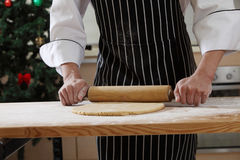 Rolling flour Royalty Free Stock Photo