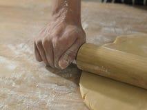 Rolling flour Stock Photo