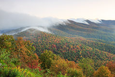 Rolling Fog Autumn Blue Ridge Mountains North Carolina Stock Photos