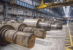 Rolling forming roll metal works Royalty Free Stock Photography
