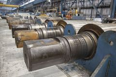 Rolling forming roll metal works Royalty Free Stock Photo