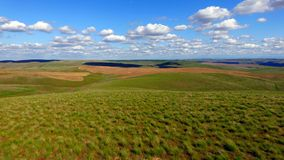 Rolling Green Hills Agricultural Land Partly Cloudy Blue Sky Royalty Free Stock Photo