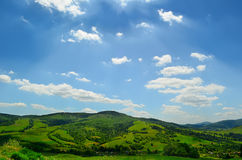 Rolling green hills of Ukraine Royalty Free Stock Photos