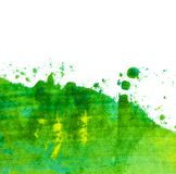 Rolling green, oil painting texture Royalty Free Stock Photos