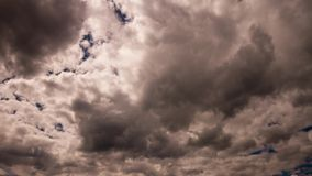 Rolling grey clouds stock video footage