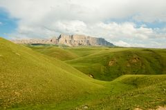 Rolling Groene Heuvels Kyrgyzstan Stock Fotografie