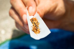 Rolling hashish joint Stock Photos