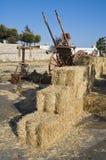 Rolling haystacks. Royalty Free Stock Photos