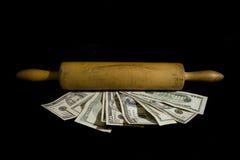 Rolling in het geld Royalty-vrije Stock Afbeelding