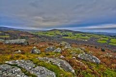 Rolling heuvels in Devon Royalty-vrije Stock Fotografie