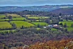 Rolling heuvels in Devon Stock Foto
