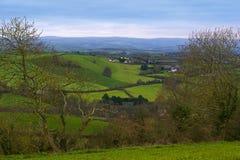 Rolling heuvels in Dorset Stock Afbeeldingen
