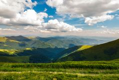 Rolling hill of Carpathian mountains. Beautiful summer landscape Stock Photo