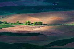 Rolling hill and Farm Land Stock Photography