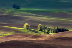 Rolling hill and Farm Land Stock Image