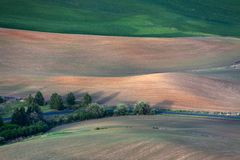Rolling hill and Farm Land Royalty Free Stock Photos