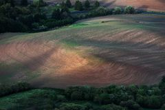 Rolling hill and Farm Land Royalty Free Stock Images