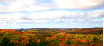 Rolling hills. A beautiful photo of autumn, taken from the Dorset Fire Tower in Dorset, Ontario royalty free stock images
