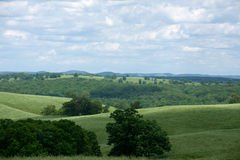 Rolling Hills. The rolling hills of the Ozarks in Missouri stock images