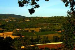 Rolling Hills av Le Marche Arkivfoto