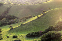 Rolling hills at Batan island in Batanes, Philippines Royalty Free Stock Photos