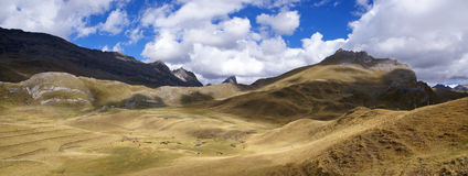 Rolling hills in broad glacial valley Stock Image